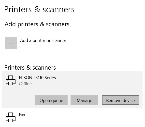 Choose the name of the printer.