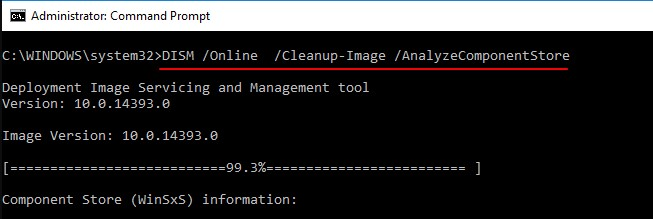 DISM.exe Online Cleanup image Restorehealth