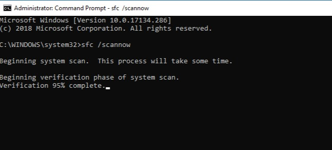 Fix corrupted system files and services (SFC)
