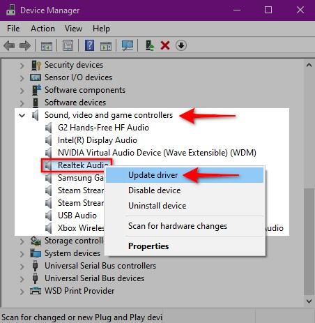 Fix your Audio Drivers
