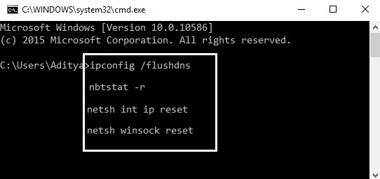 Flush DNS and Reset TCPIP