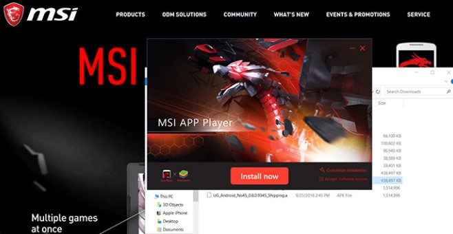 Get the newest version of the MSI app