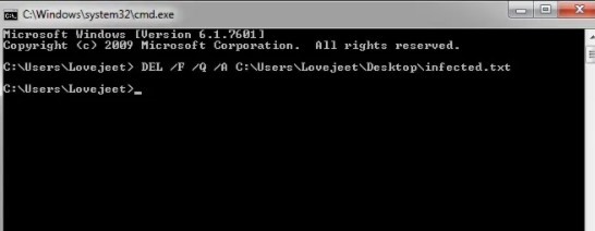 HOW TO DELETE AN UNDELETABLE FILE BY USING COMMAND PROMPT
