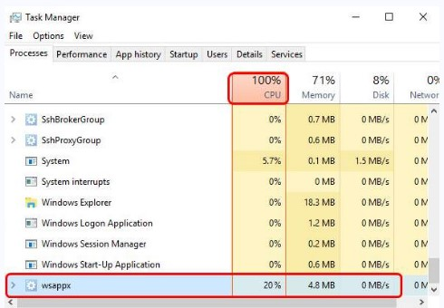 How to Fix svchost.exe WSAPPX -p High Disk Usage Easily