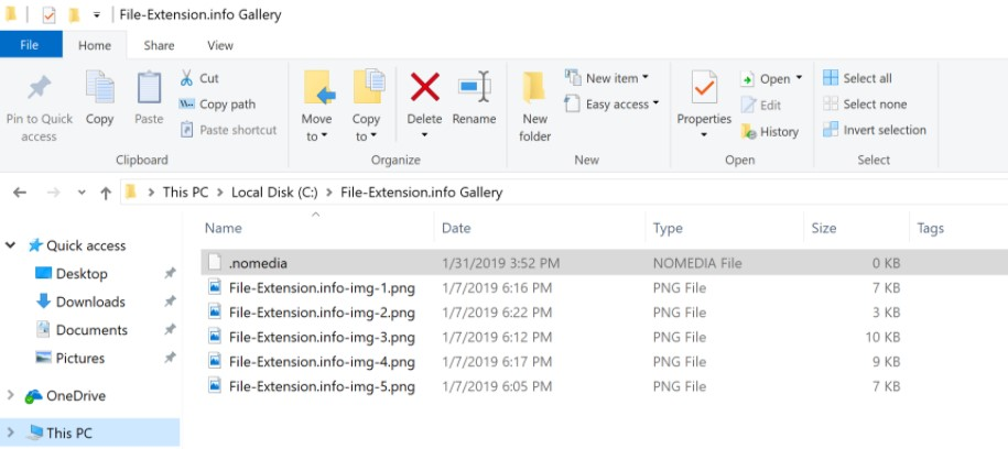 How to Open Nomedia Files with Windows for Free