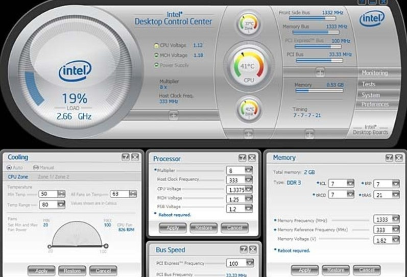 Intel Desktop Control Center1