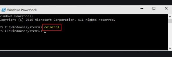 Open Color Management through Windows PowerShell
