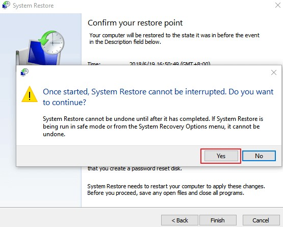 PERFORM SYSTEM RESTORE1