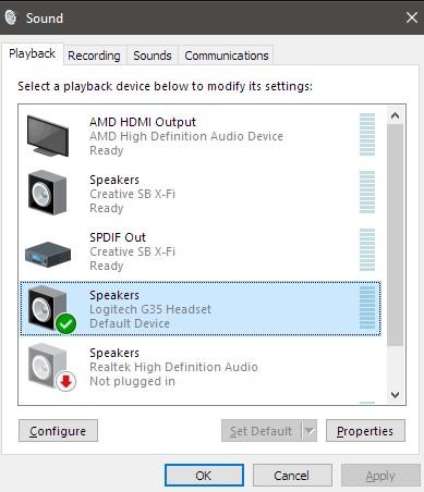 Playbacktab and chooseProperties.
