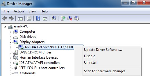 Reinstall Graphics Card Drivers