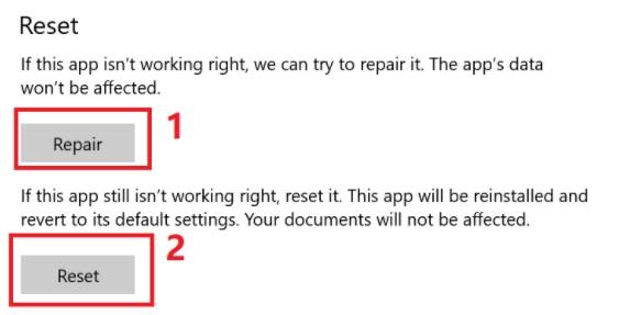 Repairing or Resetting Your Windows 10 Hulu App