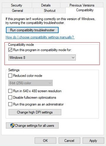 Run MSI Afterburner in Compatibility Mode for the older version of Windows