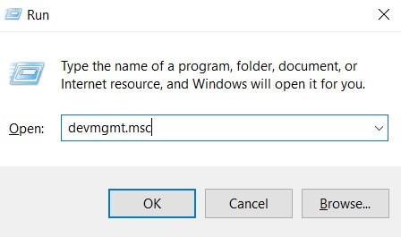 "Run and type ""devmgmt.msc""."