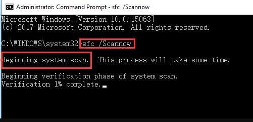 Run the system file checker
