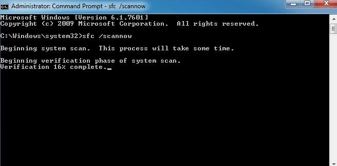 Running System File Checker
