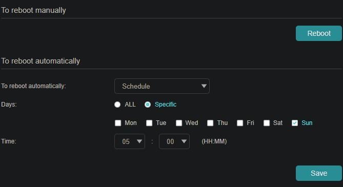 Schedule Reboots