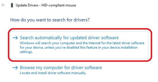 Search Automatically For Updated Driver Software1