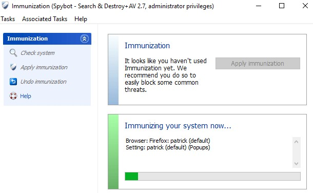 System immunization
