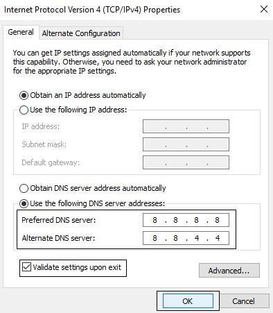 Use Google DNS