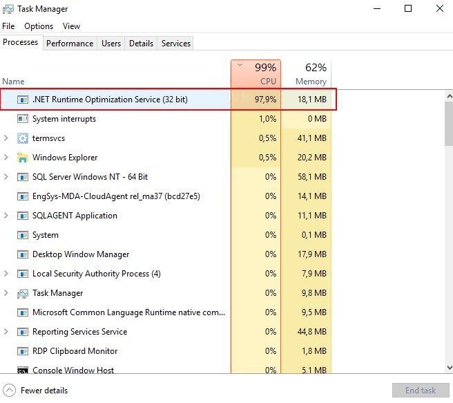 What is mscorsvw.exe .net Runtime Optimization Service