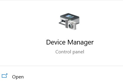 choose Device Manager.