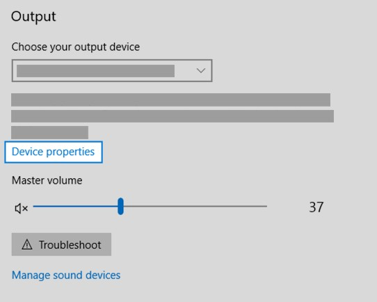 chooseDevice propertiesfor both input and output devices