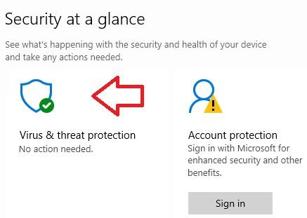 chooseVirus and threat protectionoption.
