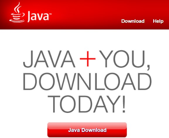 click on the Java Download button.