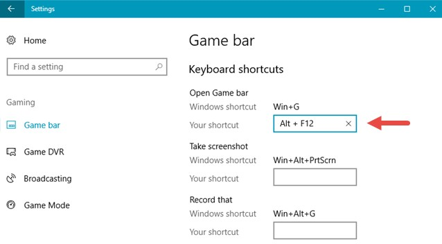 create a customized keyboard shortcut for an action