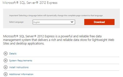 download the installation files of SQL Server Management Studio