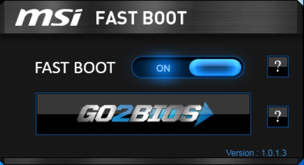 downloaded the MSI Fast Boot