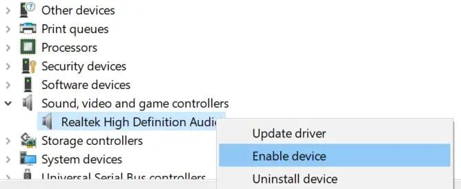 find the Realtek High Definition Audio