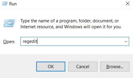 o typeregeditin the Windows Search bar.