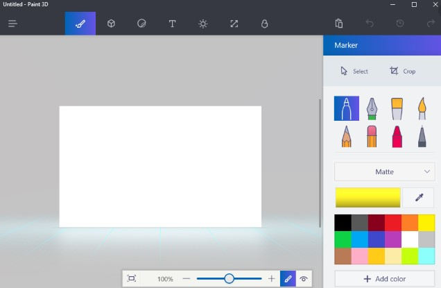 open the Paint 3D app