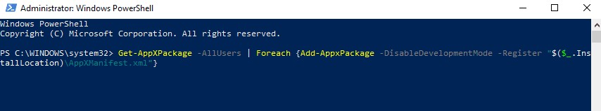 paste the thing below into PowerShell