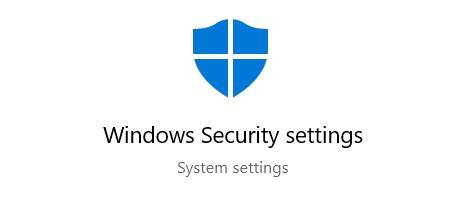typeWindows Security Settings