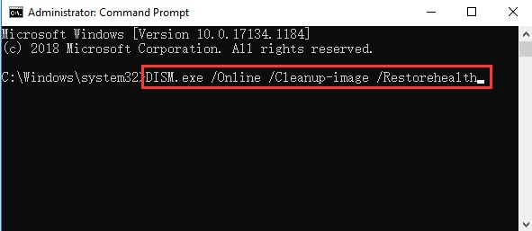 type this command DISM.exe Online Cleanup image Restorehealth