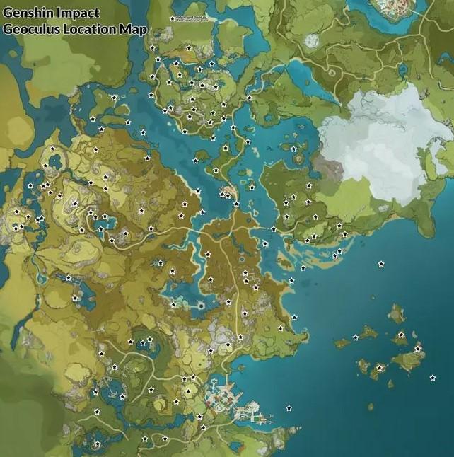 All Geoculus Locations on Genshin Impact Interactive Map