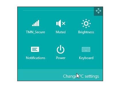 Change PC settings