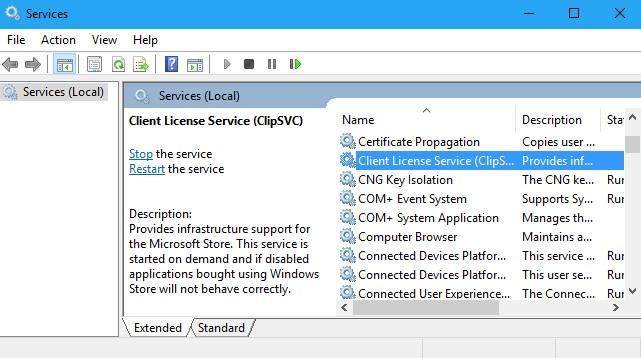 ClipSVC Client License Service