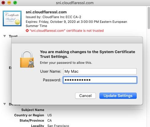 Close Certificate