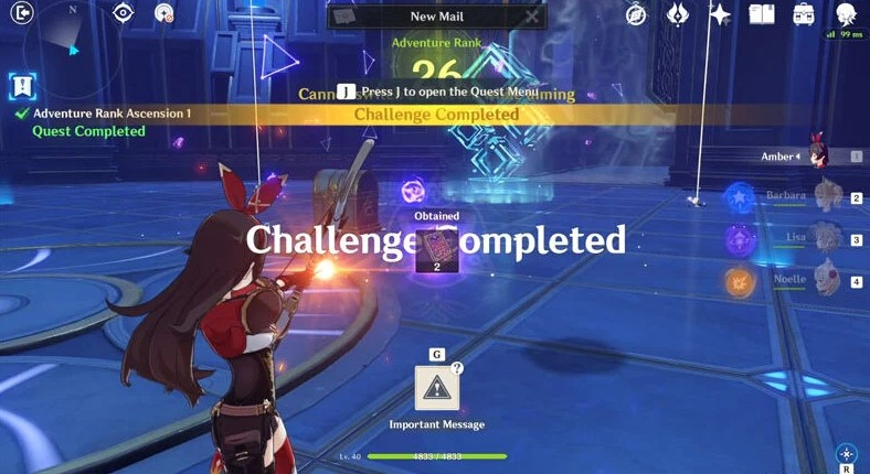 Complete the Dungeon Challenge