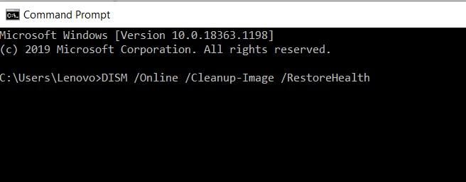 DISM Online Cleanup-Image RestoreHealth