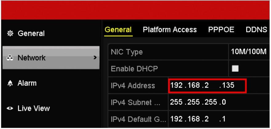 DVR IP configuration