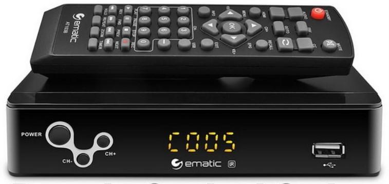 Ematic AT103B Universal Remote Code (Digital Converter Box)