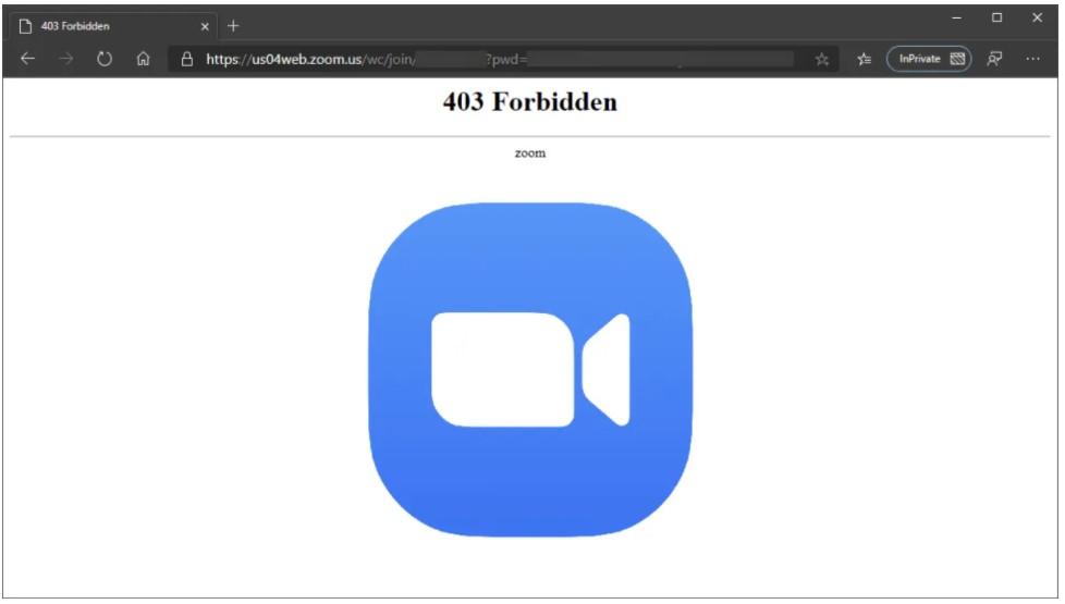 Fix Zoom 403 Forbidden Error