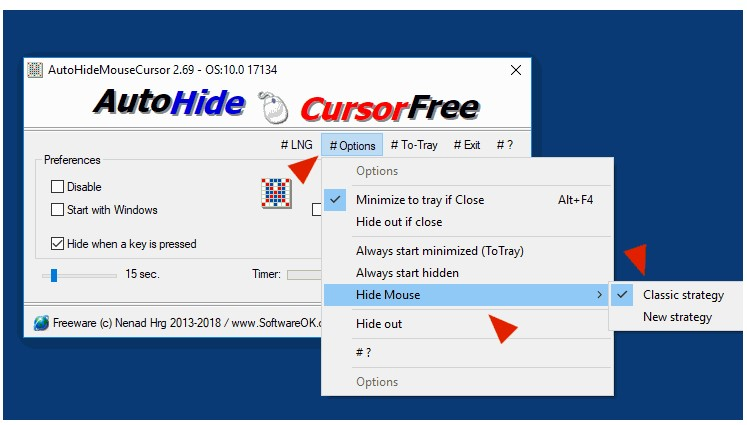 How to Use AutoHideMouseCursor to Hide the Mouse Cursor on Windows 10