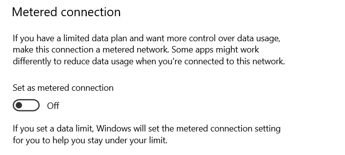 It will toggle off the option and your network will not be a metered connection anymore.
