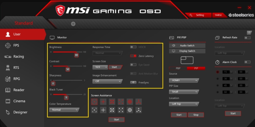 MSI Gaming OSD 2.0 Best Settings