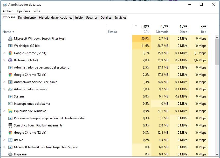 Microsoft Windows Search Filter Host Consuming High CPU
